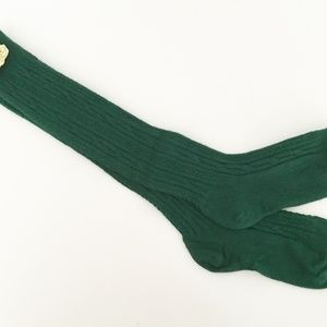 4c1b4943b Accessories - Girls Cable Knit Knee socks Green 6-7 New